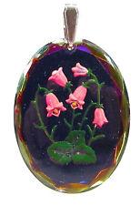 Anhänger vintage handgemachtes Glas 1950er/1960er Jahre antik Glockenblume