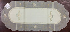 Elegant  Embroidery Table Runner Beige VCHR-9468