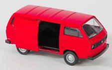 BLITZ VERSAND VW T3 VAN rot / red Welly Modell Auto 1:34 NEU & OVP