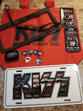 KISS 2016 Freedom To Rock V.I.P. Package Goodies COMPLETE w/ Bag Picks Passes!