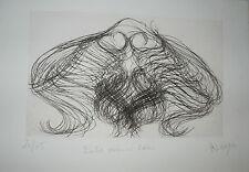 """Gravure Originale de Messagier,  """"  Entre ouïes et cœur  """""""