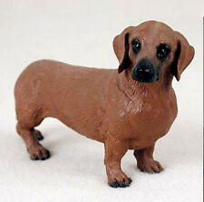 DACHSHUND (RED) DOG Figurine Statue Hand Painted Resin Gift Pet Lovers Tan