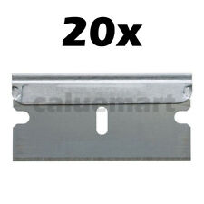 20 PACK Razor Scraper Blades Single Edge Box Cutter Knife Paint Glass Straight