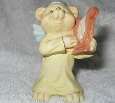 Angel Teddy Babies - Bear Angel With A Harp