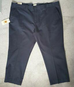 Farah Mens Navy Blue Deering Soft Twill Trousers - Size W52 X W27 BNWT