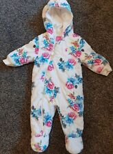 Baby Girls Joules Lovely Snowsuit 6-9 Months Vgc
