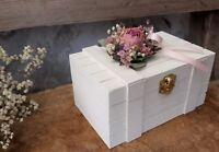 Ringbox Mille Fleurs Holzbox eckig Ringkissen Ringhalter zur Hochzeit