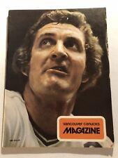 1973 VANCOUVER CANUCKS vs PHILADELPHIA FLYERS Orland KURTENBACH Bobby CLARKE