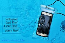 B.Out WATERPROOF Cell Phone Bag Case (CLEAR/TRANSPARENT)-PREMIUM QUALITY