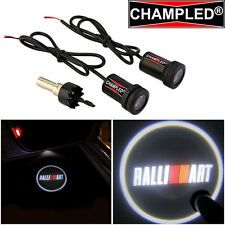 LED Projector Logo Emblem symbol sign badge Under Door Step light Car RALLI ART