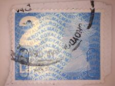 1 USED GB 2ND CLASS LARGE SECURITY BLUE MACHIN STAMPS 2009 YBLM - SEE PHOTOS