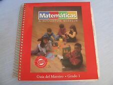 Houghton Mifflin Matematicas Gia del Maestro Grado 1 Spanish Math Teacher Manual