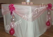 Wedding Reception CAKE TABLE Decoration Pack - Organza, Bows & Balloons
