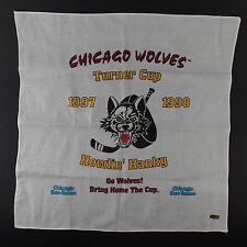 Chicago Wolves Turner Cup Hockey Playoffs 1998 Howl in Hanky Chicago Sun-Time