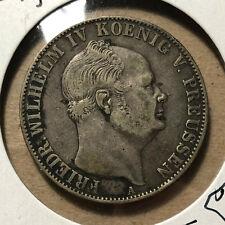 1855-A Germany Prussia Thaler Taler Friedrich Welheim IV Silver Coin VF/XF