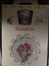 Royal Doulton Bunnykins 3pc Plate Bowl & Cup Rabbit w/ Box