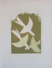 """Georges BRAQUE (1882-1963) Lithographie de 1963 / """"Les oiseaux blancs"""" / Mourlot"""