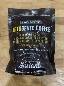 Rapid Fire Ketogenic Fair Trade Coffee Instant Mix 7.93 oz. Bag 15 servings