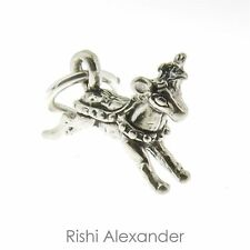 925 Sterling Silver Small Reindeer Charm Made in USA