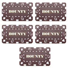 5 Ct Square Rectangular 32 Gram BOUNTY Poker Plaques Use as Bounty Chip Button