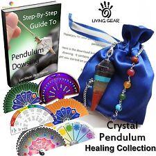 Healing Crystal Pendulum Chakra Balancing Divination Dowsing Kit Valentine's Day