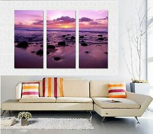 3 Panels X-Large Modern Wall Art .Fully framed. Ready to hang 120x80cm