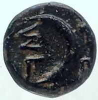 SIGEION in TROAS Authentic Ancient 350BC Greek Coin ATHENA CRESCENT NGC i81898