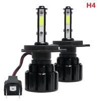 2X 4 Side H4 HB2 9003 LED Headlight Bulb High Low Beam 100W 20000LM 6000K White
