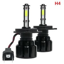 2X 4 Side H4 HB2 9003 LED Headlight Bulb High Low Beam 100W 20000LM 6000K White