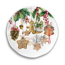 "Set 4 Michel Design Works Holiday Treats Melamine 8"" Accent Plates-NEW"