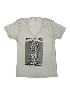 vtg 80s joy division unknown pleasures band t-shirt