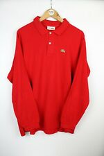 Mens LACOSTE Devanlay Long Sleeve Polo Shirt Red | XL Size 7