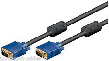 VGA SVGA D-Sub HD15 Cable 10m 32ft Lead for CRT TFT LCD Monitor Projector Laptop