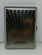 Eclipse Gun Metal Sunrise Design 100s Size Cigarette Case