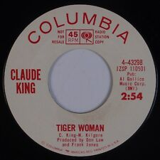 CLAUDE KING: Tiger Woman USA Columbia DJ PROMO 45 Country Bopper 45 HEAR