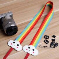 Camera Shoulder Neck Strap Belt Hand Grip Rainbow For DSLR Nikon Canon EOS Sony