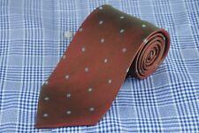 Joseph Abboud Men's Tie Red Green Blue & Gold Dot Woven Silk Neck 58 x 3.5 in.