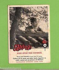 SCANLENS 1964 SAMURAI TV CARD #32  NINJA ON ROOF
