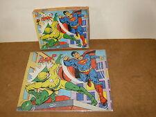 Ancien puzzle vintage - MB serie SUPER HEROS - SUPERMAN - 1980 MARVEL DC COMICS
