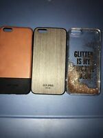 Lot Of 3pc iPhone 6 Plus / 6s Plus Kate Spade Glitter,jack Spade Cases