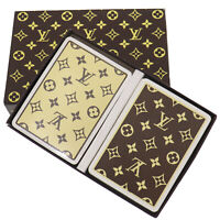LOUIS VUITTON Trump Playing Cards Games 2 Set Monogram France Authentic #NN562 O