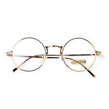 Nerd Brille filigran rund Glasses Klarglas Hornbrille treber 9515 Gold Brillenge