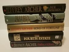Jeffrey Archer Hardcover Novel Book Lot Of 5 - Stand Alone books