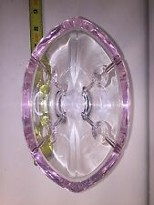 Lenox Crystal Leaded Glass Pink Trim Oval Bowl Breast Cancer Awareness