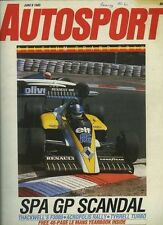 Autosport 6th de junio 1985 * Acrópolis Rally & Spa F 3000 *