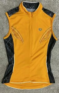 Pearl Izumi Select Women's Sleeveless 1/2 Zip Cycling Shirt Size XS orange bike