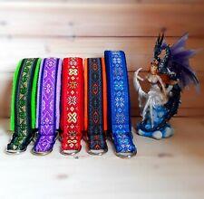 Martingale dog collar handmade Ethnic tribal folkloric bohemian collar for dogs