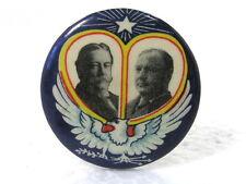 VINTAGE 1908 PINBACK POLITICAL CAMPAIGN BUTTON - WILLIAM TAFT & JAMES SHERMAN