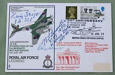 RAF LEEMING COVER SIGNED BY LUFTWAFFE PILOT HEINZ BEYER & COLONEL LEVERETTE USAF