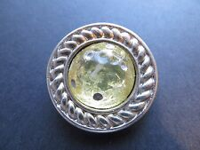 1980s Vintage Big Silver-frame Light Yellow Coat Jacket Dress Button-32mm